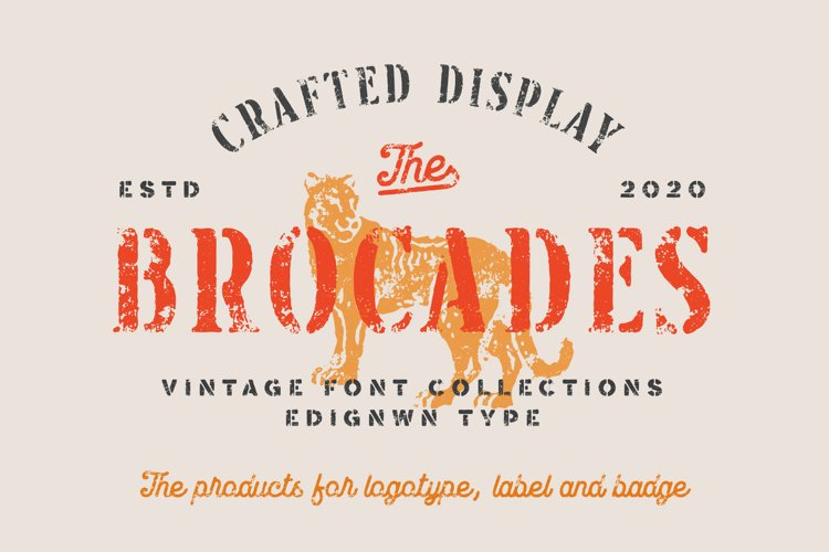 Brocades - Crafted Font example image 1