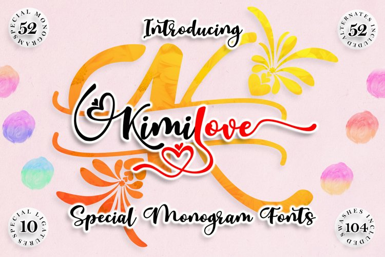 Kimilove // Monogram Script Font example image 1