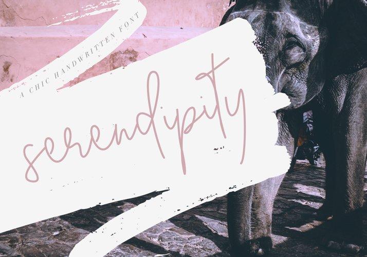 Serendipity - Handwritten Font example image 1