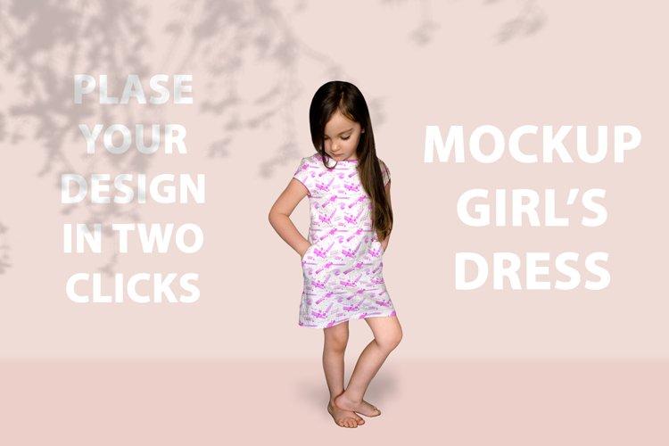 Girls Dress Mockup