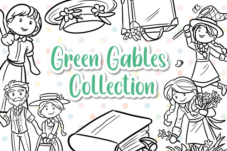 Anne of Green Gables Digital Stamps