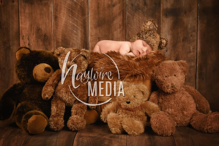 Baby Newborn Teddy Bear Digital Photography Backdrop