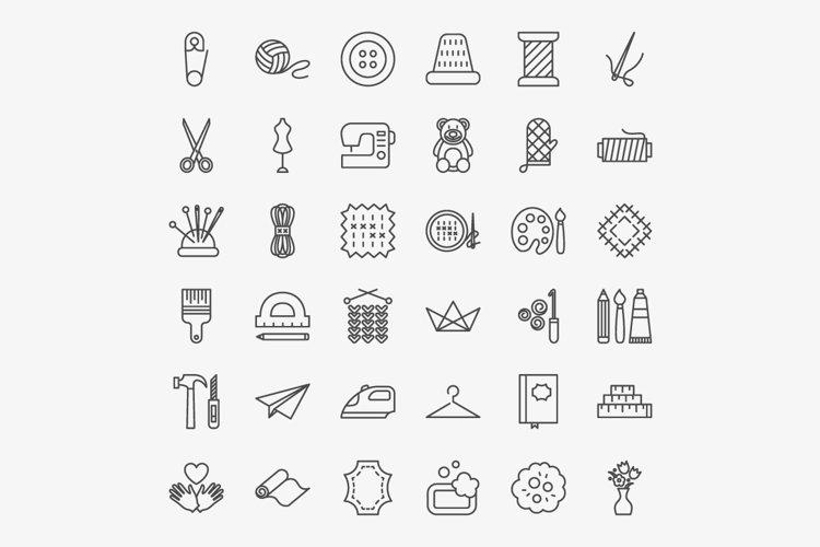 Handmade Line Art Icons example 1