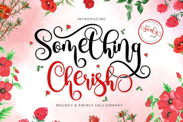 Something Cherish - Quirky Calligraphy Script example image 1