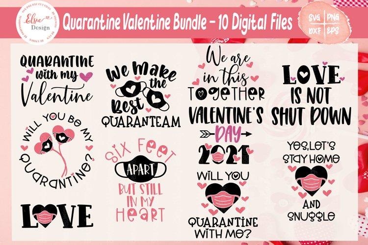 Quarantine Valentine / Pandemic Valentine Bundle SVG Files example image 1