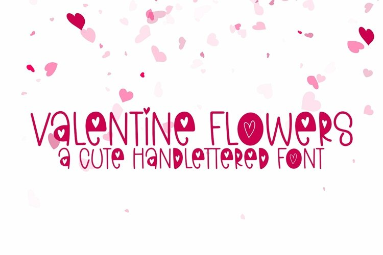 Web Font Valentine Flowers - A Valentine's Day Font example image 1