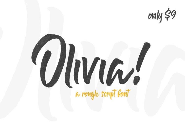 Olivia Rough Font example image 1