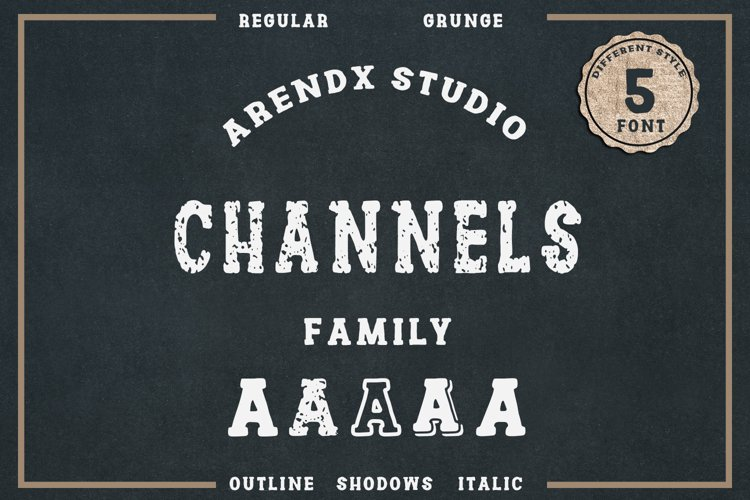 Channles - Family Vintage Font
