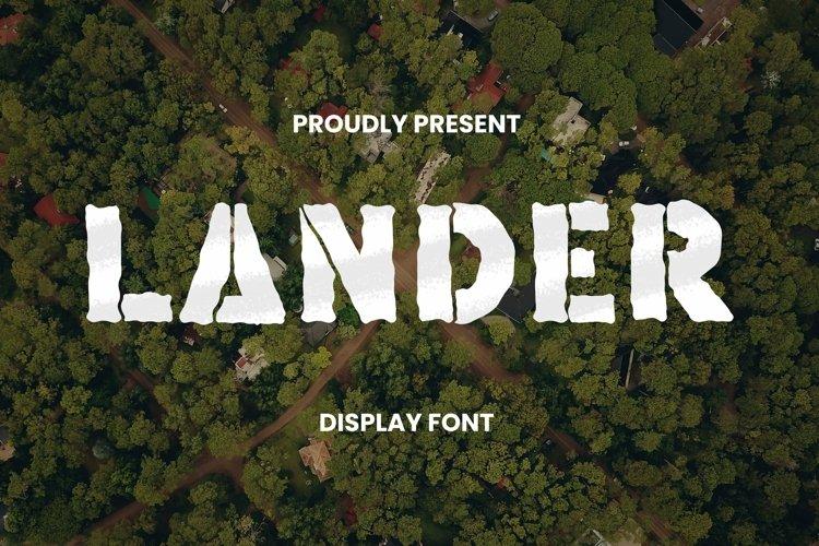 Web Font Lander Font example image 1