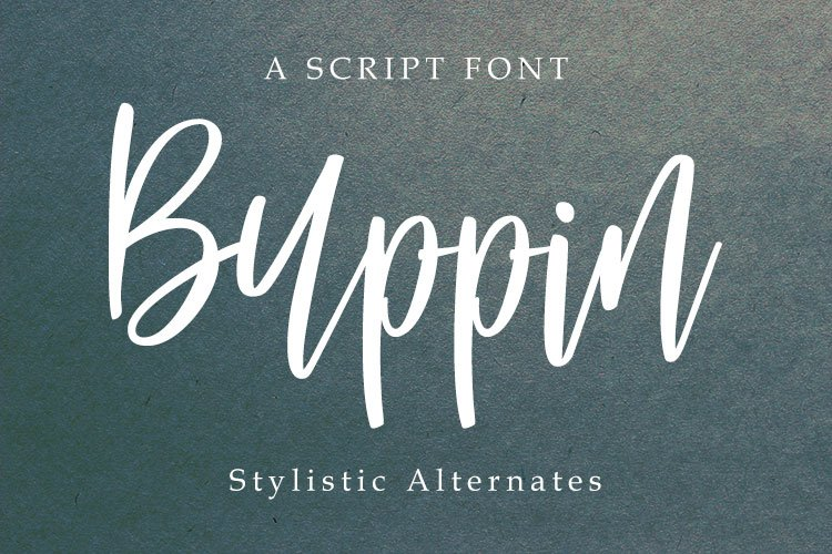Buppin font example image 1