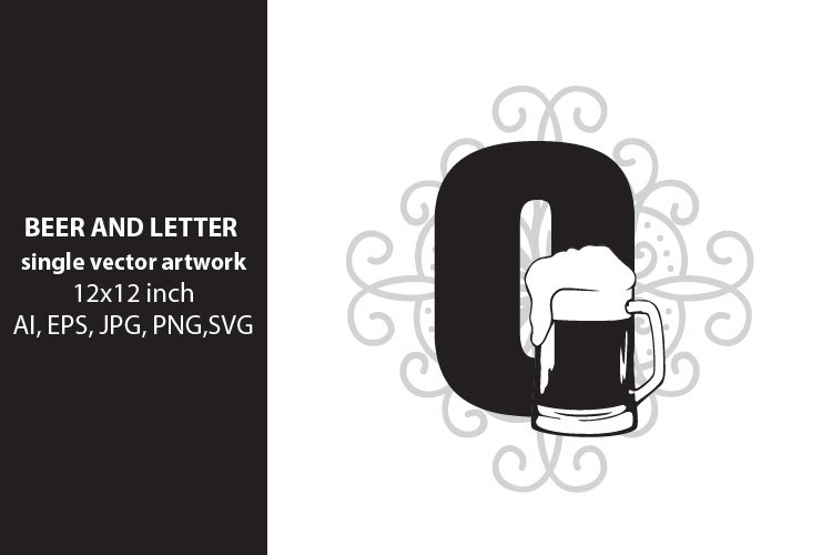 Beer, monogram letter O example image 1