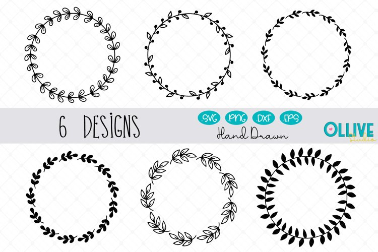 Wreaths SVG, Wreaths Cut Files example image 1