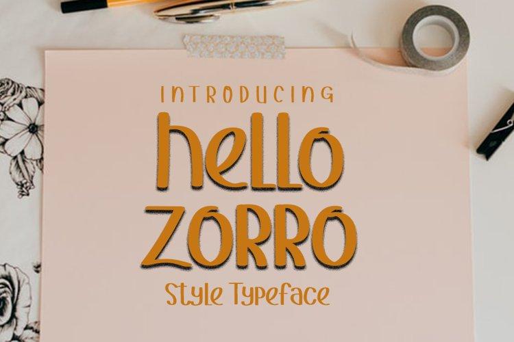 Hello Zorro example image 1
