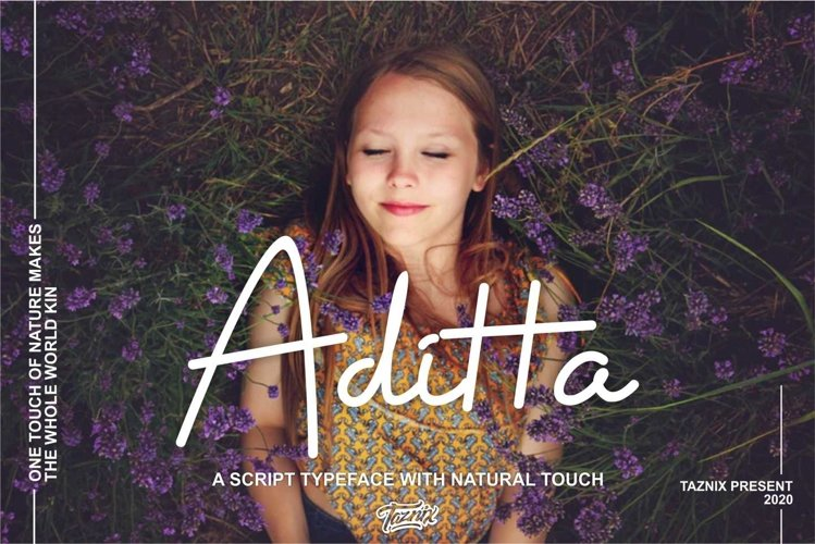 Aditta A Script Typeface With Natural Touch example image 1