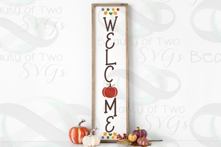 Farmhouse Fall svg Welcome Vertical svg, Welcome porch svg example image 1