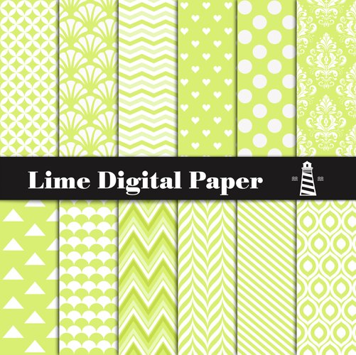 Lime Digital Paper example image 1