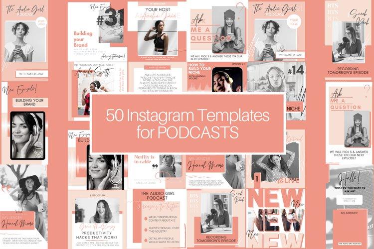 50 Podcast Instagram Template BUNDLE! Posts & Stories