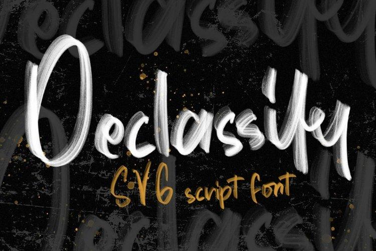 Web Font Declassify - SVG Script Font example image 1