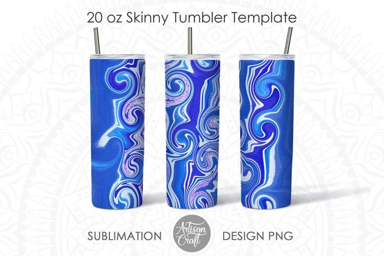 Blue swirl marble, 20 oz Tumbler sublimation