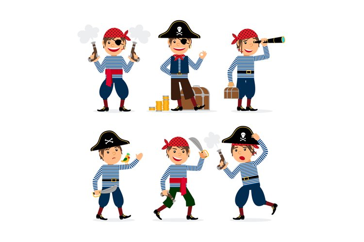 Pirate child boy vector example image 1