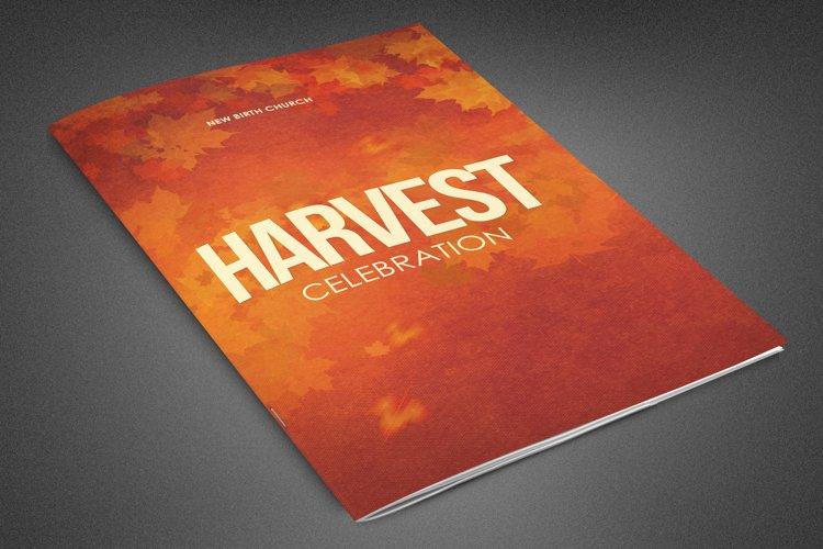 Harvest Celebration Church Bulletin