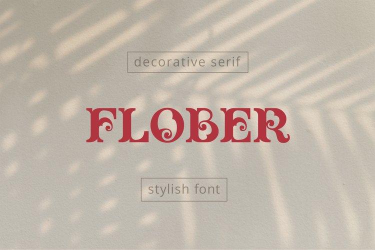 Flober decorative serif example image 1