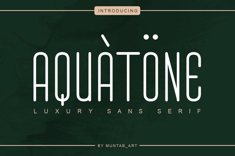 Aquatone | Luxury Sans example image 1