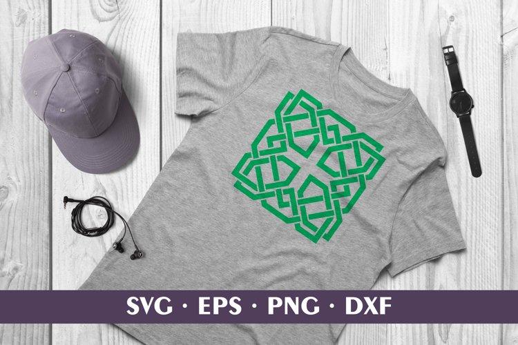 Green Shamrock Celtic Knot Sublimation / Cut SVG DXF PNG EPS example image 1