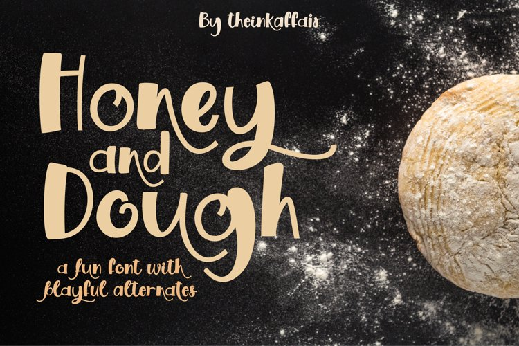 Honey and Dough, a playful font example image 1