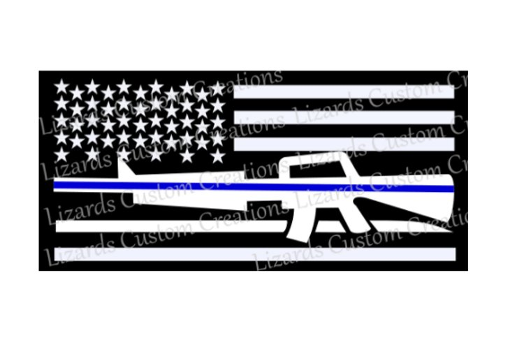 Law Enforcement/Police Blue Line Flag example image 1