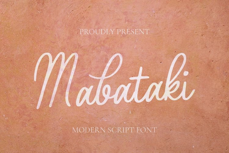 Web Font Mabataki Font example image 1