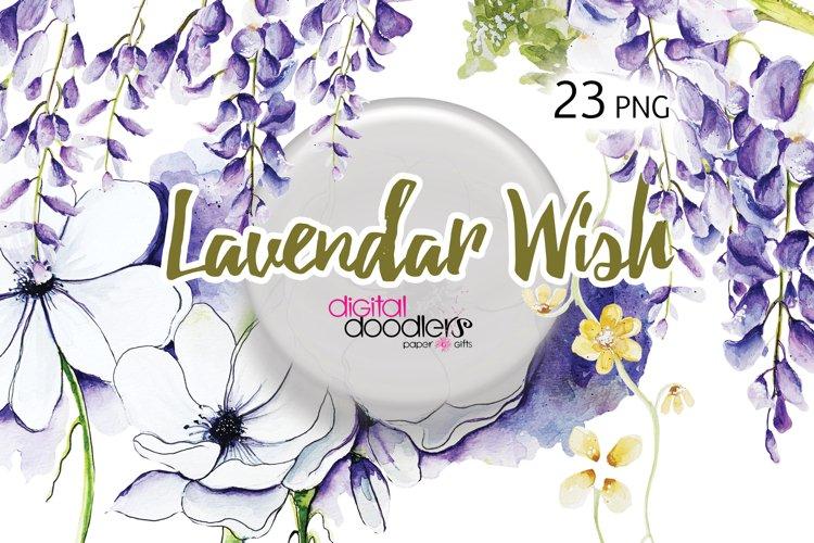 Lavender Wish Watercolor Floral Graphics