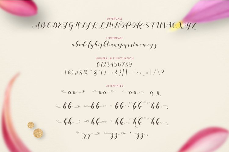 Loveya Script (Font Duo + Extras) example 8