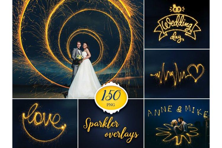 150 Sparkler Photo Overlays example image 1