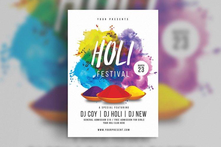 Holi Festival Flyer example image 1