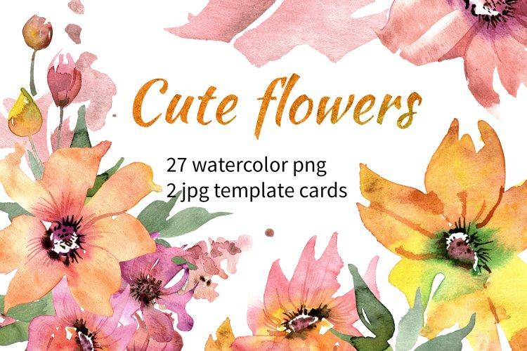 Cute Watercolor Flowers