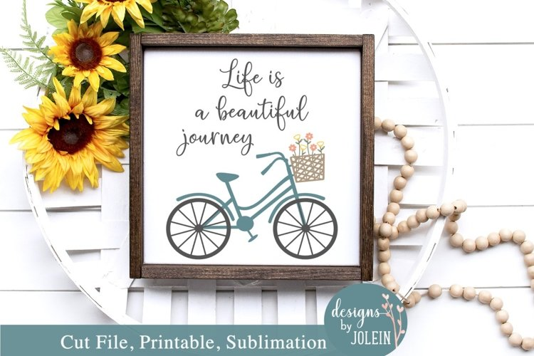 Life is a beautiful journey - SVG, Sublimation, Printable example image 1