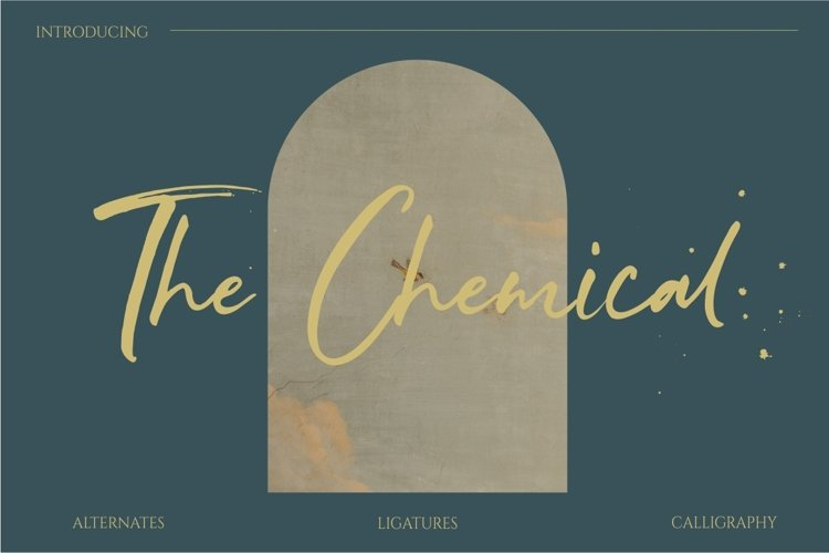 The Chemical Brush Font example image 1