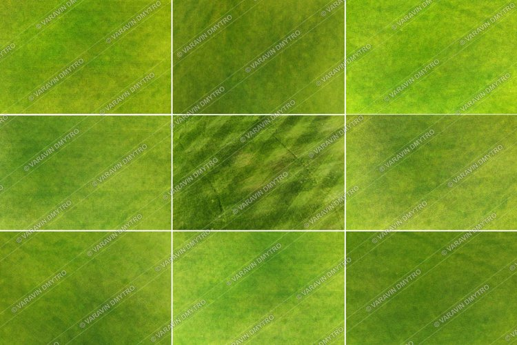 9 x Green Grass Textures example image 1
