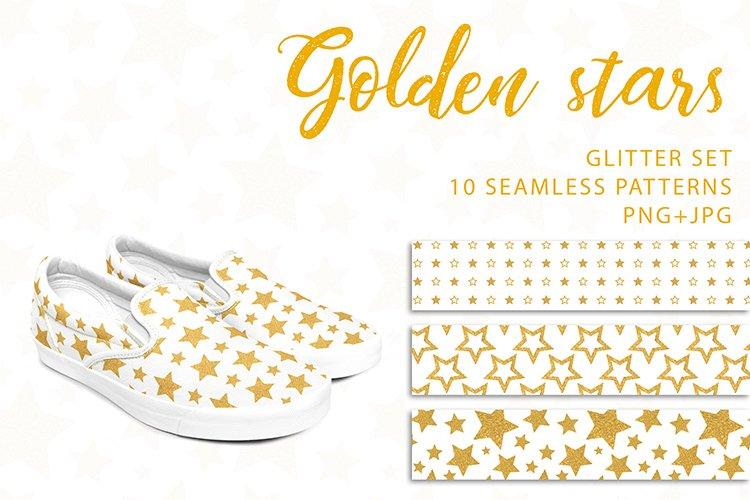Golden stars. PNG, JPG