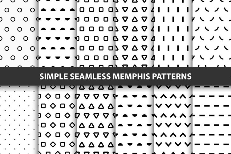 12 Simple seamless trendy patterns.