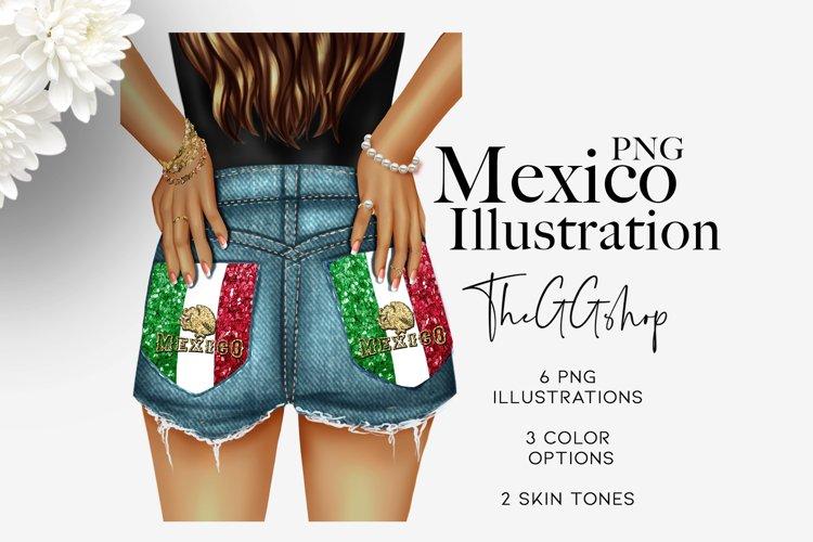 Mexican Latina Girl Clipart