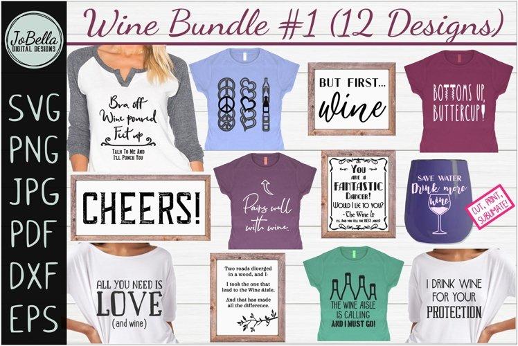 Wine SVG Bundle #1, Sublimation PNGs & Printables