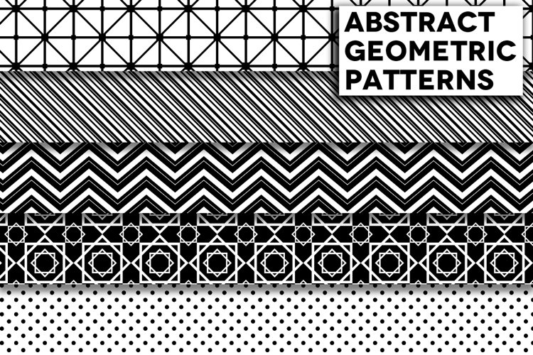 Abstract Black and White Geometric Patterns