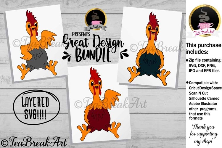Cute Chicken Animal Cutting Files 1206