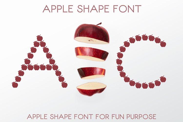 Apple Shape Font example image 1