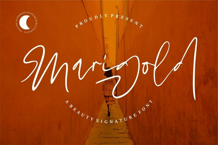 Web Font Marigold - Beauty Signature Font example image 1