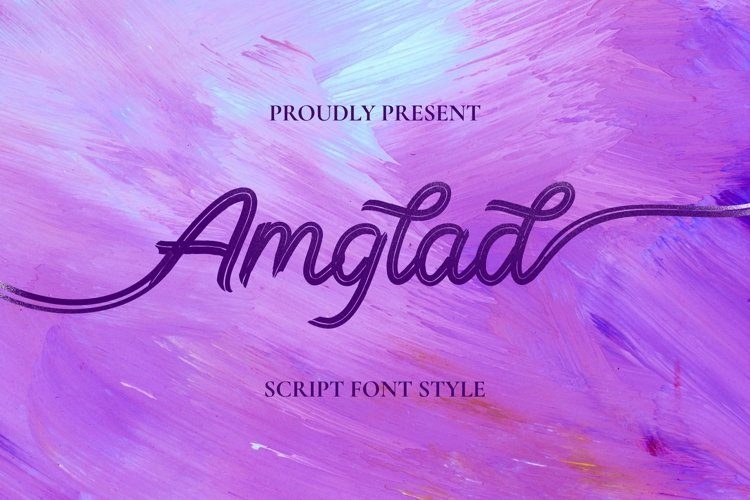Web Font Amglad Font example image 1