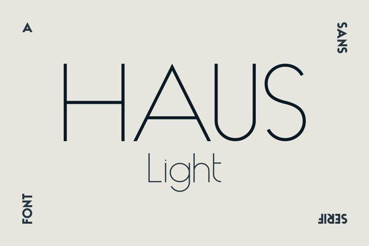 HAUS Sans Light example image 1