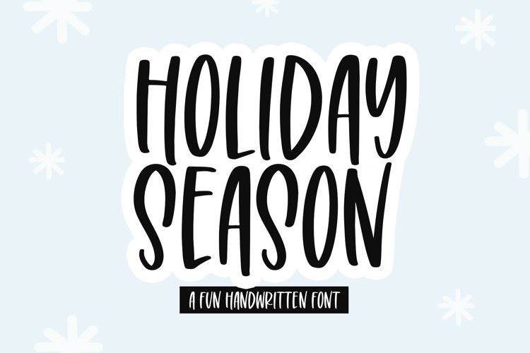 Holiday Season - A Tall Handwritten Font example image 1